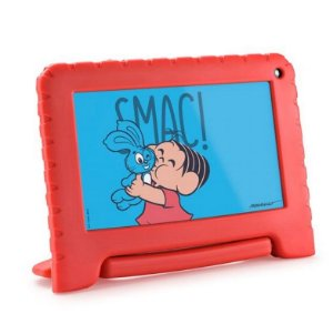 Tablet Multilaser Turma da Mônica 16Gb Tela 7 Pol Quad Core NB341 Vermelho - Multilaser