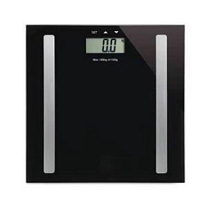 Balança Digital Serene Digi-Health Pro HC030 - Preta - Multilaser