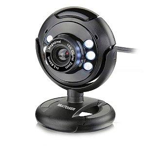 Webcam Multilaser Nightvision WC045 Plug E Play 16Mp Microfone Usb Preto - Multilaser