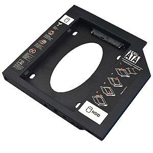 Adaptador Caddy HDD/SSD para Notebook via baia de 12,7MM CD/DVD GA173 - Multilaser