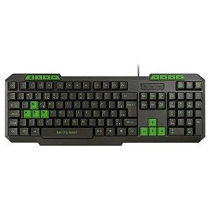 Teclado Gamer Multimidia Slim Verde - TC243 - Multilaser