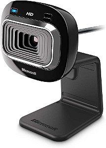 Webcam Microsoft LifeCam HD-3000, Widescreen, 720p, USB, Preta, T3H-00011 - Microsoft