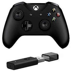 Controle Xbox One + Adaptador Wireless para PC - Microsoft