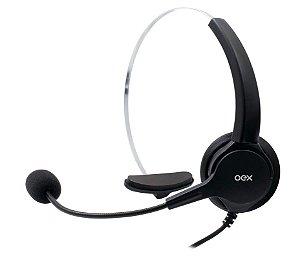 Headset Conector RJ11 com Redução de Ruído HS101 Preto - Oex