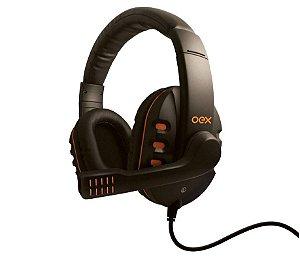 Headset Gamer Oex Action com Microfone HS-200 Preto e Laranja - Oex