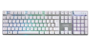 Teclado Oex Game Prismatic TC205 LED ABNT2 Branco - Oex