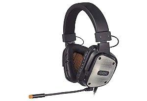 Headset Gamer  Armor Hs403 Com Microfone Multiplataforma Preto - Oex