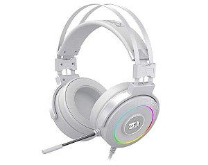Headset Gamer Redragon Lamia 2 Drivers 40mm RGB Surround Branco - H320W-RGB - Redragon