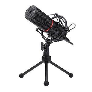 Microfone Condensador Redragon Blazar GM300, USB, Cabo 1,7m, Preto - Redragon