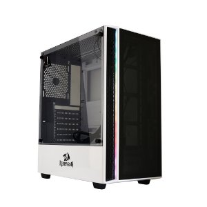 Gabinete Mid-Tower Redragon Grapple, Lateral de Vidro Temperado, Branco GC-607WH - Redragon
