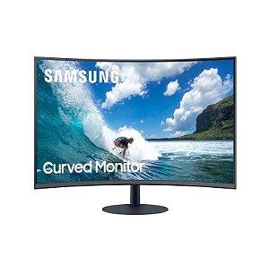 Monitor Curvo Samsung 32pol LC32T550FDLXZD AMD FreeSync 75Hz HDMI Display Port Curvatura 1000R Preto - Samsung