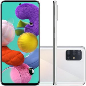 Smartphone Samsung Galaxy A51, 128GB, 48MP, Tela 6.5´, TV Digital, Branco - SAMSUNG