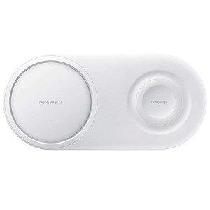 Carregador Rápido Sem Fio Duplo Pad Branco EP-P5200TWGBR - Samsung