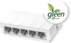 Switch 5 Portas TP-Link LiteWave LS1005 Fast Ethernet 10/100Mbps Case Plastico - TP-Link