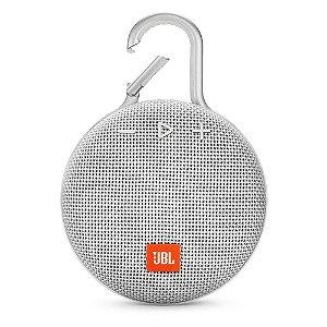 Caixa de Som Bluetooth Clip 3 Branca à Prova d´Água - JBL