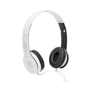 Fone com Microfone Dobrável PH-100WH Branco - C3Tech