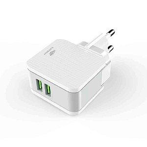 Carregador Universal AC/USB UC-215WH  - C3Tech