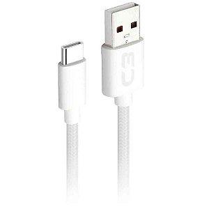 Cabo USB - USB C 1M 2A CB-C11WH - C3TECH