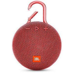 Caixa de Som Bluetooth Clip 3 Vermelha à Prova d´Água - JBL