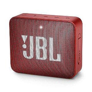 Caixa Bluetooth JBL GO2 Vermelha Prova d'Água - JBL