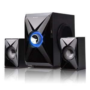 Caixa de Som Speaker 2.1 SP-260BK C/FM/SD/USB - C3Tech