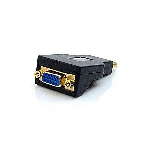 Adaptador VGA Fêmea X Display Port Macho ADP-101BK - Plus Cable