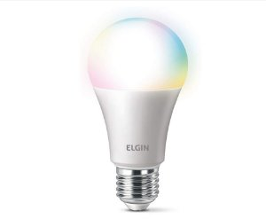 Lâmpada Bulbo Inteligente Led A60 10W Smart Color Wi-Fi Compatível com Alexa - Elgin