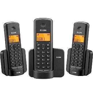 Telefone sem Fio TSF8003 com Identificador de Chamadas Preto - Elgin