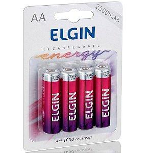 Pilha Recarregável AA 2500mah (Blister c/4) - Elgin