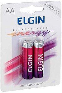 Pilha Recarregável AA 2500mah (Blister c/2) - Elgin