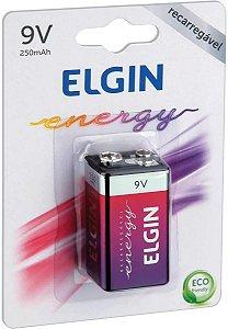 Bateria Recarregável 9V 250mah - Elgin