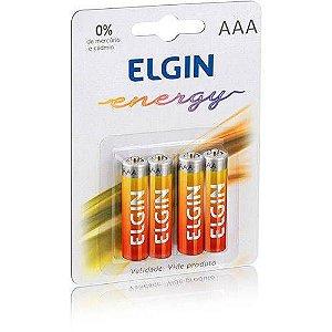 Pilha de Zinco/ Carvão AAA R03 (blister c/4) - ELGIN