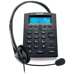 Conjunto pra telefonista Headset com base discadora e identificador de chamadas HST 8000 - ELGIN