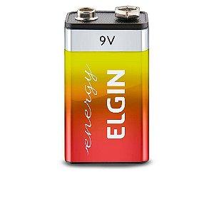 Bateria de Zinco 9V Carvão (Blister com 1) - ELGIN