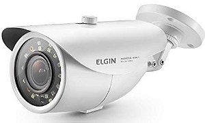 Câmera Varifocal 4 em 1 Bullet, 2mp, IR de 50m lente 2.8 A 12mm branco - ELGIN