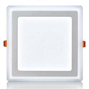 Luminária de embutir LED 3 estágios Quadrada 18+6W bivolt 3000K/3000K - ELGIN