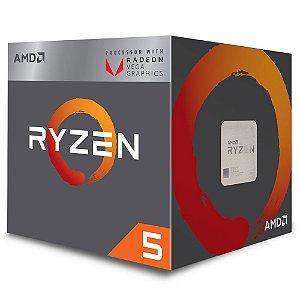 Processador AMD Ryzen 5 2400G 3.6GHZ AM4 6MB Cache 46-65W YD2400C5FBBOX - AMD
