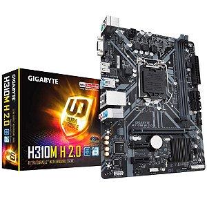 Placa Mãe Gigabyte Intel LGA 1151 mATX Dddr4 H310M H 20 - Gigabyte