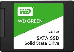 SSD WD Green 240GB, SATA, Leitura 545MB/s, Gravação 465MB/s WDS240G2G0A - Western Digital