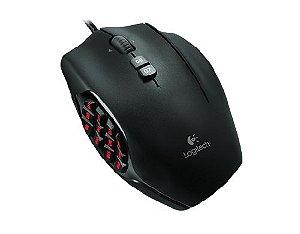 Mouse Gamer Logitech G600 MMO RGB Lightsync 20 Botões 8200 DPI - Logitech