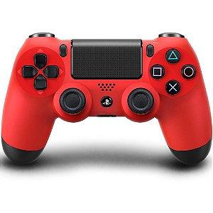 Controle para PS4 sem Fio Dualshock 4 Vermelho - Sony