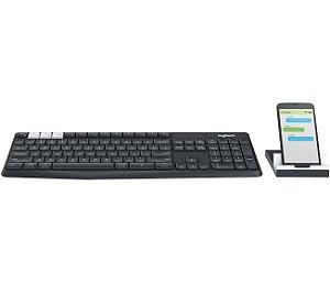 Teclado Bluetooth Logitech K375s Multiplataforma RC Nano ABNT2 - Logitech