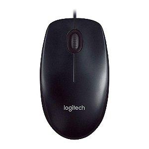 Mouse Ótico Logitech M90 com Fio USB - Logitech