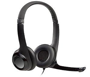 Headset USB Logitech H390 em Couro - Logitech