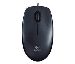 Mouse Óptico Com Fio Logitech M100 Preto, Design Ambidestro, 1000 Dpi, Entrada USB - Logitech