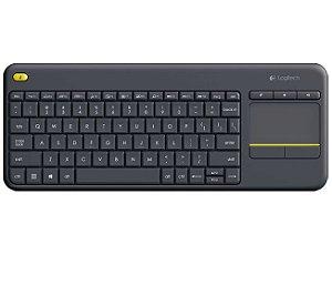 Teclado Sem Fio Com Touchpad Logitech K400 Plus Cinza - Logitech