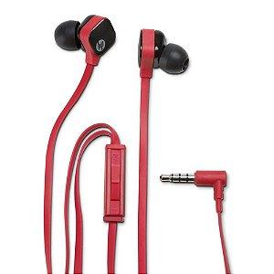 Fone de Ouvido HP Intra Auricular H2310 Vermelho - HP