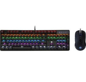 Kit Teclado e Mouse USB Gaming Mechan GM200 Preto - HP