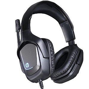 Headset Gamer HP H220,  Stereo 1 P2+USB, Iluminação com Led Preto- HP