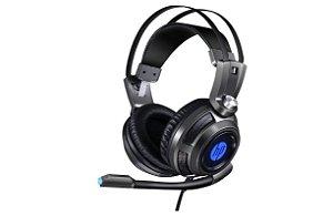 Headset Gamer P2+Usb H200 Preto HP Gamer - HP
